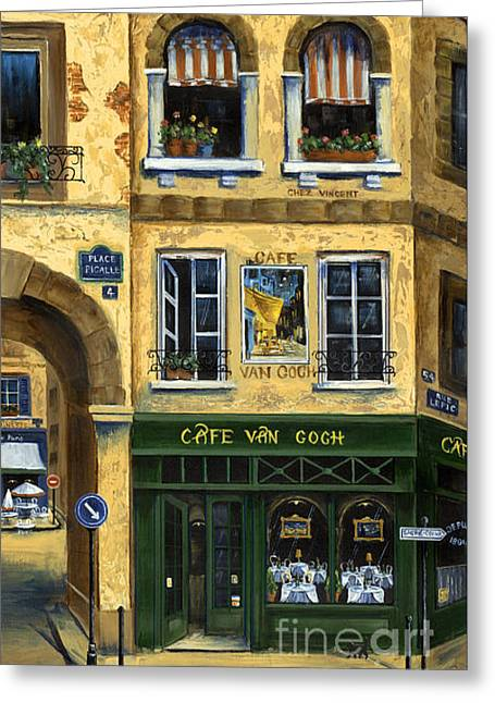 Cafe Van Gogh Paris Greeting Card