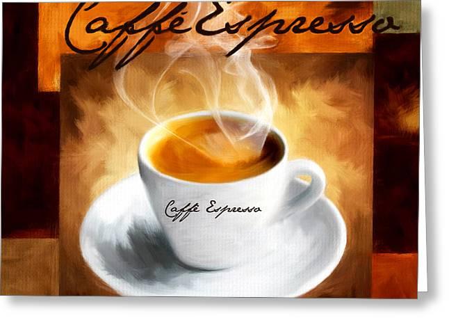 Caffe Espresso Greeting Card by Lourry Legarde