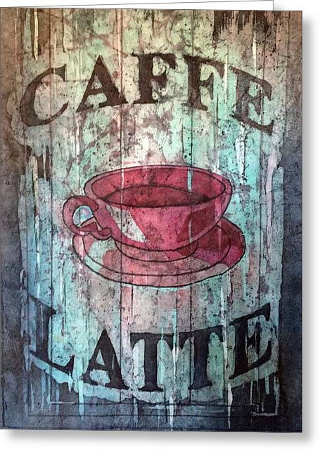 Greeting Card featuring the painting Caffe Latte by Diane Fujimoto