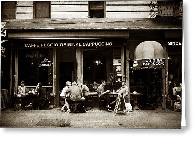 Caffe Reggio Nyc Greeting Card