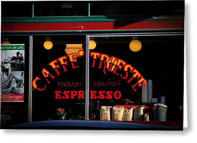 Caffe Trieste Espresso Window Greeting Card