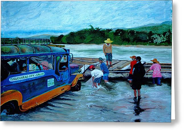 Cagayan River Greeting Card by Carol Tsiatsios