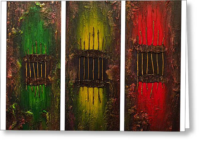 Caged 2 Greeting Card by Patricia Lintner
