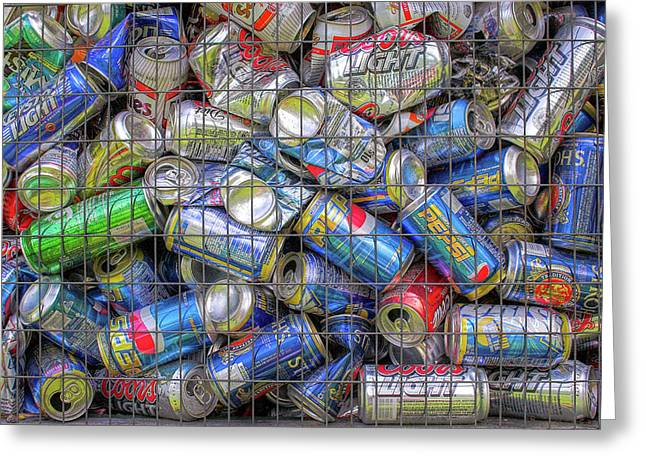 Caged Cans Greeting Card