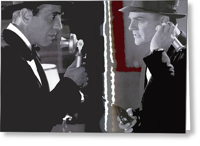 Cagney Bogart Angels With Dirty Faces 1938-2016  Greeting Card by David Lee Guss
