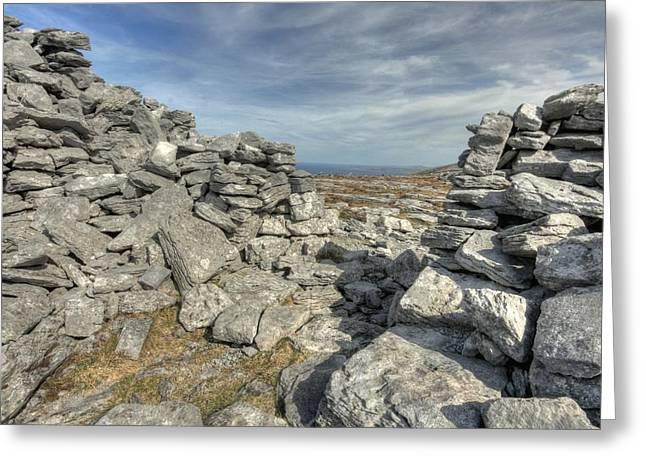 Caherdooneerish Stone Fort  Greeting Card by John Quinn