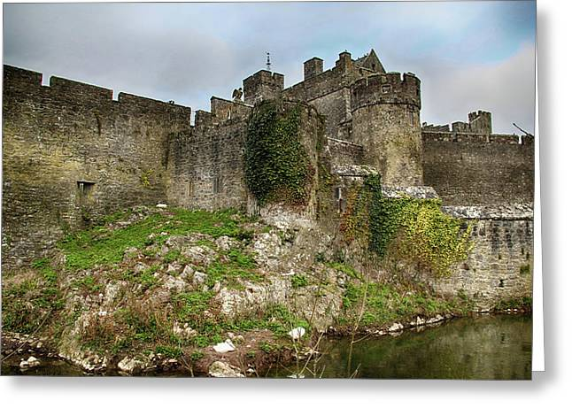 Greeting Card featuring the photograph Cahir Castle by Marie Leslie