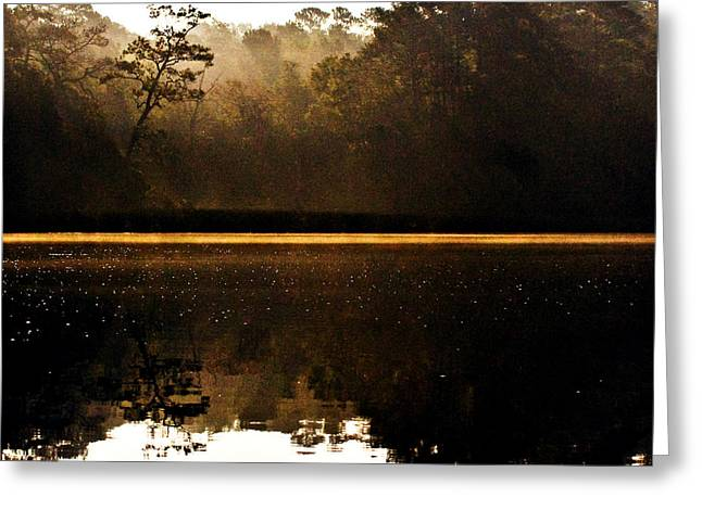 Greeting Card featuring the photograph Cahooque Creek Sunrise by Bob Decker