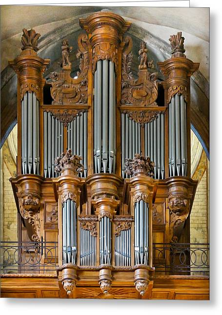 Cahors Cathedral Organ Greeting Card