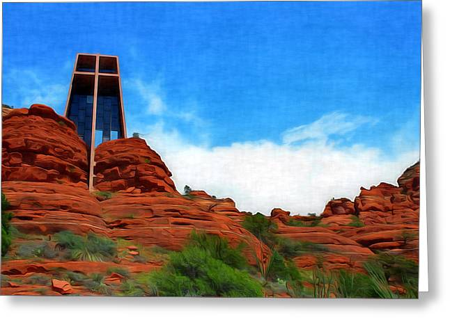 Chapel Of The Holy Cross - Sedona Arizona Greeting Card