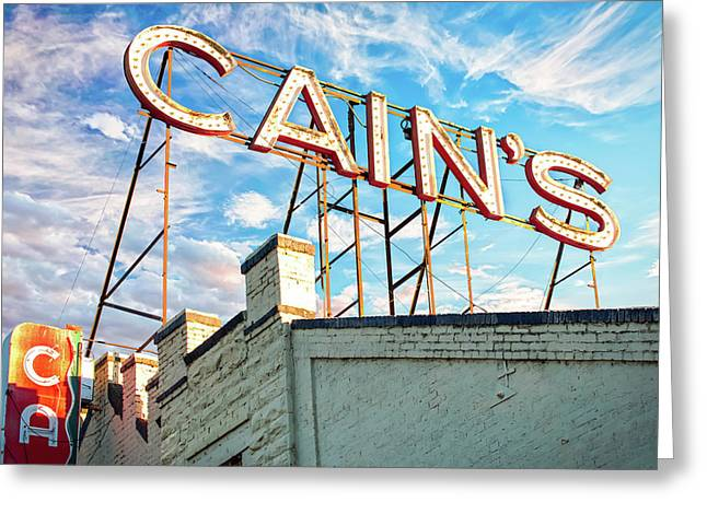 Cains Ballroom Music Hall - Downtown Tulsa Cityscape Greeting Card
