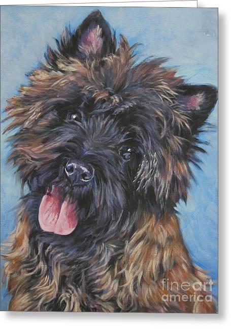 Cairn Terrier Brindle Greeting Card