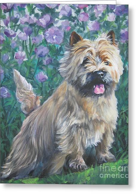 Cairn Terrier In The Flowers Greeting Card by Lee Ann Shepard