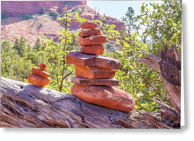 Cairns And Rocks 2 Greeting Card by Beverly Tabet