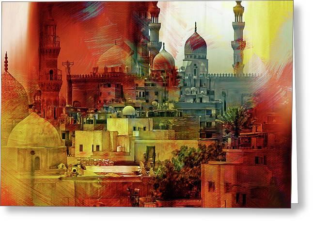 Cairo Egypt Art 01 Greeting Card