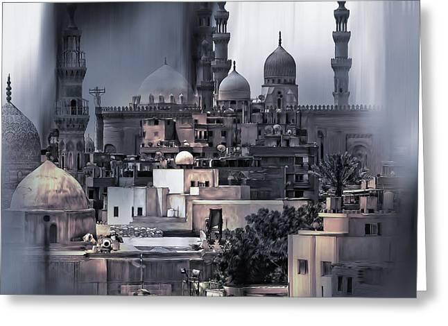 Cairo Egypt Art Greeting Card