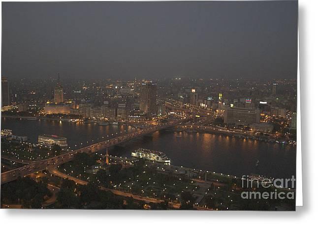 Cairo Smog Greeting Card by Darcy Michaelchuk