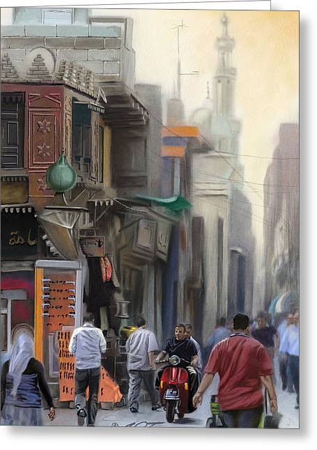 Cairo Street Market Greeting Card