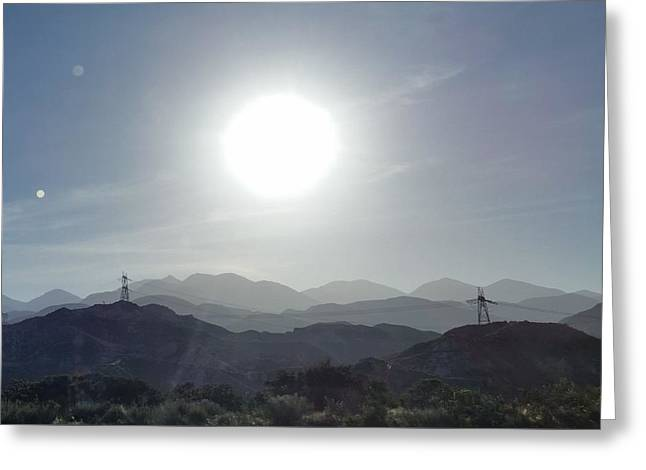 Cajon Pass Sunset Greeting Card