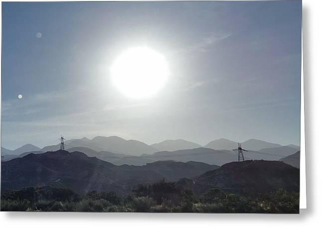 Cajon Pass Sunset Greeting Card