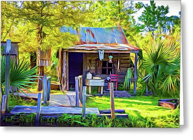 Cajun Cabin 2 - Paint Greeting Card