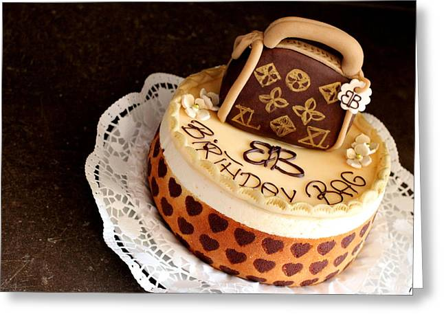 Cake Description Greeting Card by Heike Hultsch