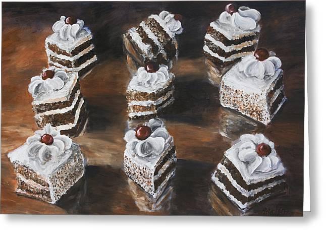 Cake Greeting Card by Nik Helbig