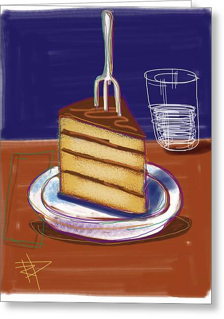 Cake Greeting Card by Russell Pierce