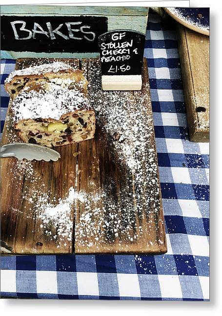 Cake Stall At A Market Greeting Card by Tom Gowanlock