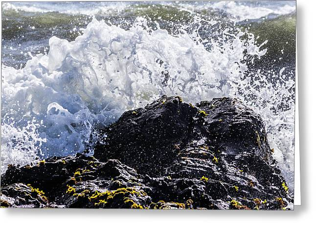 California Coast Wave Crash 4 Greeting Card