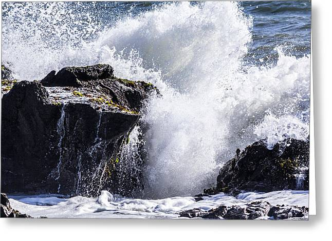 California Coast Wave Crash 6 Greeting Card