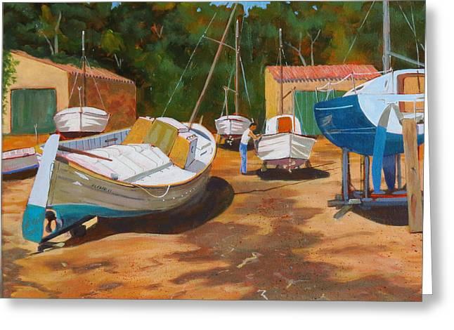 Cala Figuera Boatyard - I Greeting Card