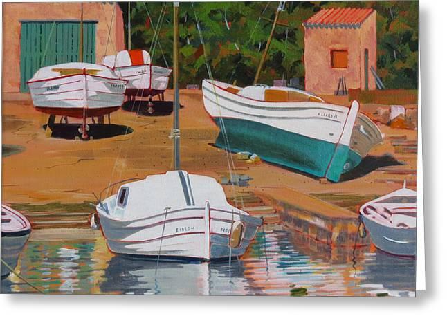 Cala Figuera Boatyard - II Greeting Card