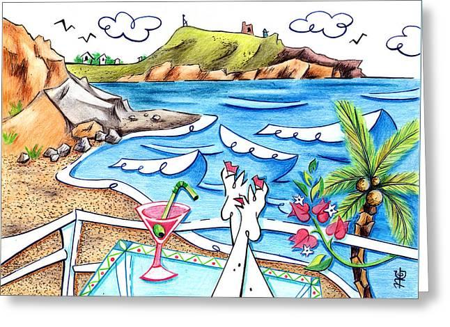Cala Plomo Costa Del Sol - Parque Natural Cabo De Gata Almeria Greeting Card