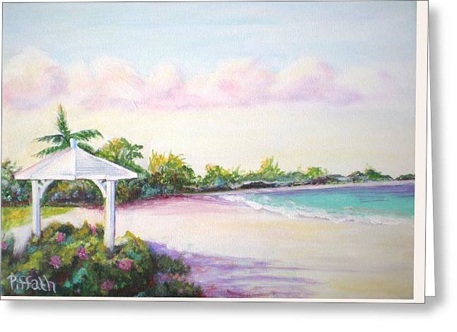 Greeting Card featuring the painting Calabash Bay by Patricia Piffath