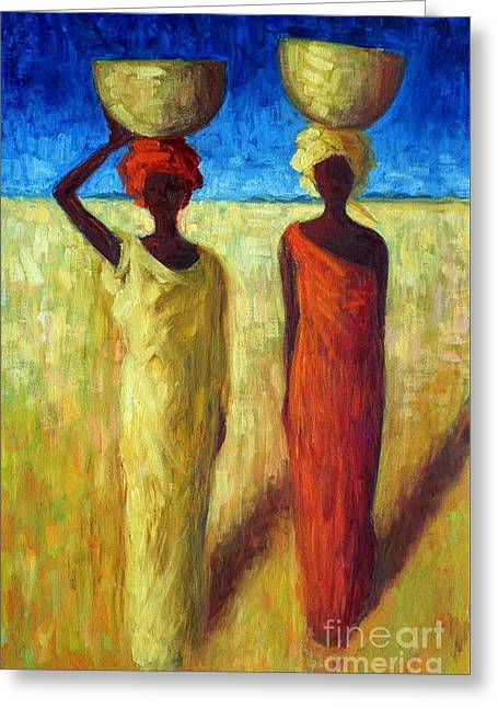Calabash Cousins Greeting Card by Tilly Willis
