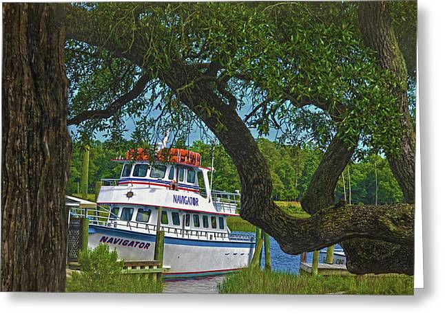 Calabash Deep Sea Fishing Boat Greeting Card by Sandi OReilly
