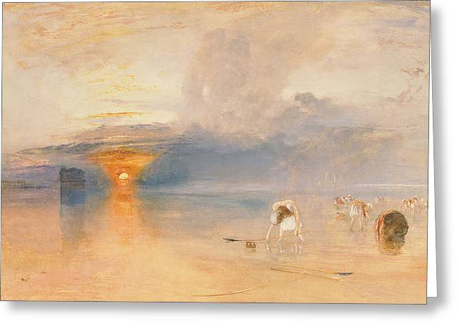 Calais Sands At Low Water Greeting Card by Joseph Mallord William Turner