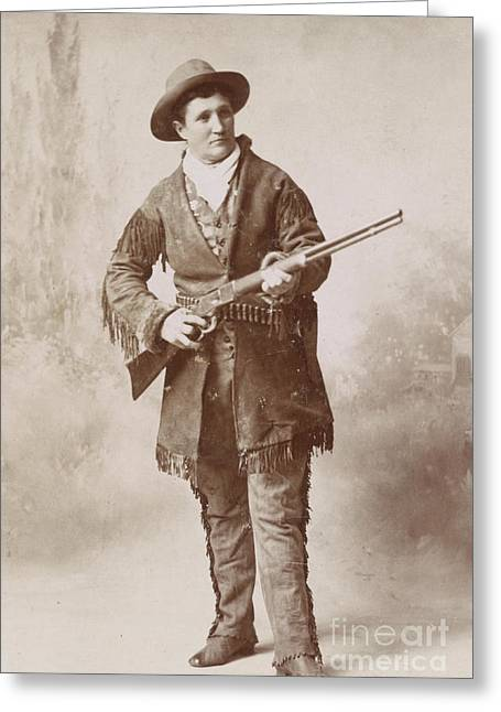Calamity Jane, American Frontierswoman Greeting Card