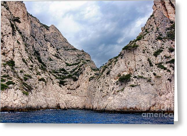 Calanque Art Greeting Card by Olivier Le Queinec