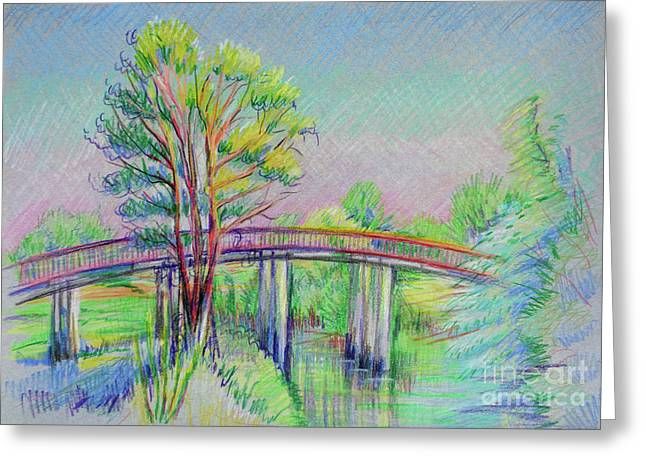Calaveras Canal Bridge Greeting Card