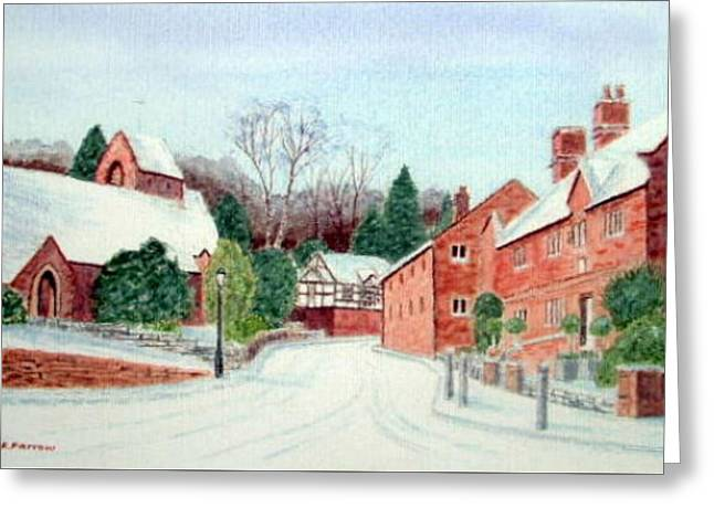 'caldy Village In Winter', Wirral Greeting Card