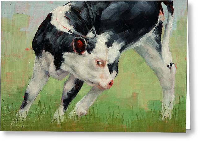 Calf Contortions Greeting Card