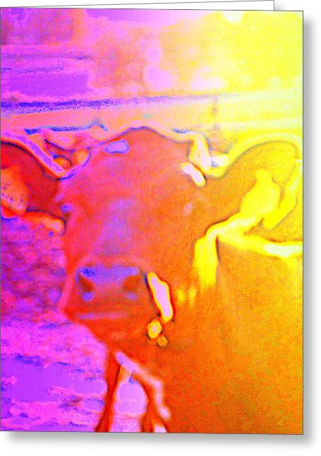 A Calf Dreaming Of A Brighter Future  Greeting Card by Hilde Widerberg