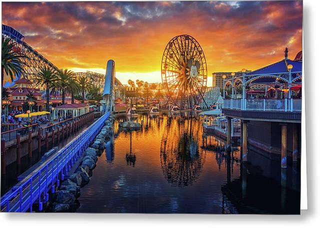 Calfornia Sunset Greeting Card