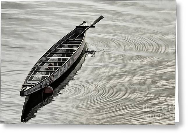 Greeting Card featuring the photograph Calgary Dragon Boat by Brad Allen Fine Art
