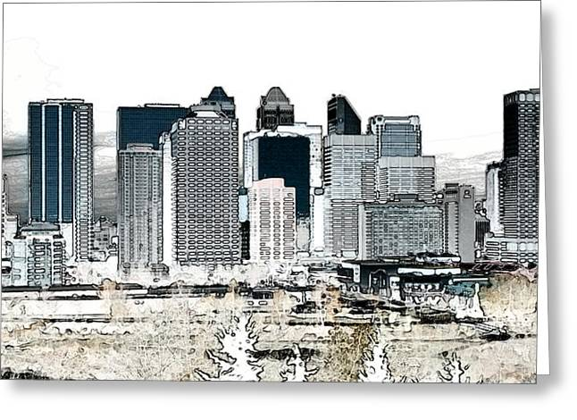 Calgary Skyline 1 Greeting Card by Stuart Turnbull