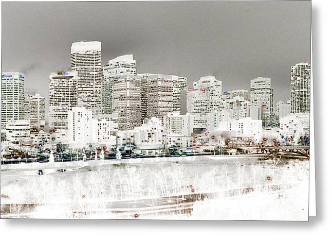Calgary Skyline 3 Greeting Card by Stuart Turnbull