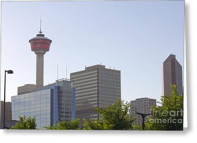 Calgary Tower 3 Greeting Card by Donna Munro
