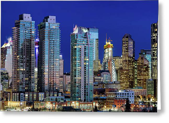 Calgary's Blue Hour Greeting Card